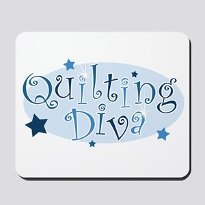 """Quilting Diva"" [blue] Mousepad"